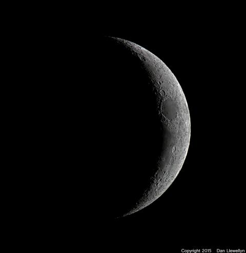 Image of the Moon at Lunar Phase Day 03.
