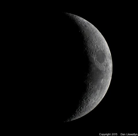Image of the Moon at Lunar Phase Day 04.