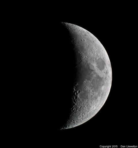 Image of the Moon at Lunar Phase Day 05.