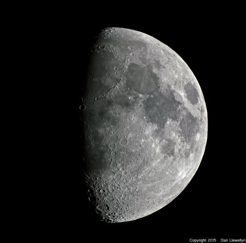 Image of the Moon at Lunar Phase Day 08.