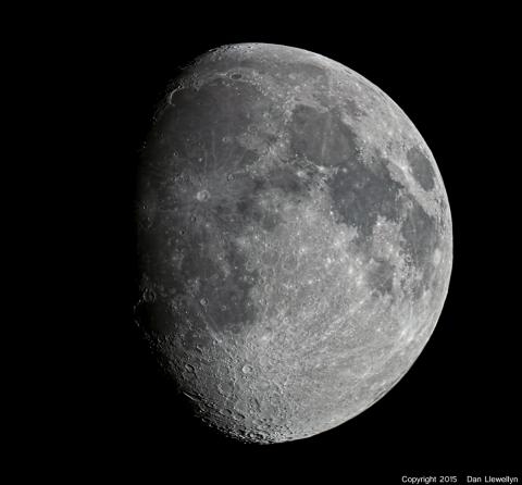 Image of the Moon at Lunar Phase Day 10.
