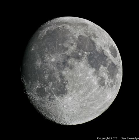 Image of the Moon at Lunar Phase Day 12.