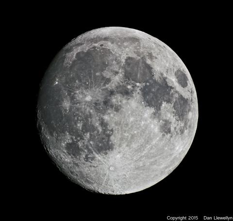 Image of the Moon at Lunar Phase Day 13.