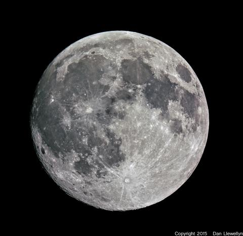 Image of the Moon at Lunar Phase Day 14.
