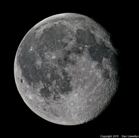 Image of the Moon at Lunar Phase Day 17.