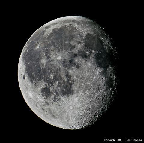Image of the Moon at Lunar Phase Day 18.