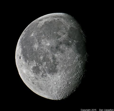 Image of the Moon at Lunar Phase Day 19.
