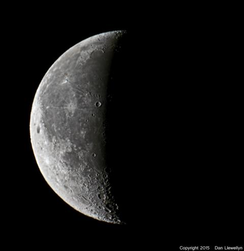 Image of the Moon at Lunar Phase Day 23.