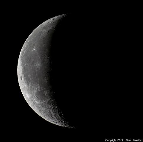 Image of the Moon at Lunar Phase Day 24.