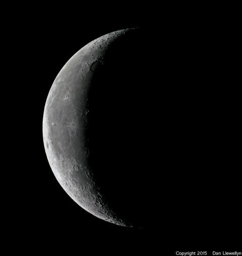 Image of the Moon at Lunar Phase Day 25.