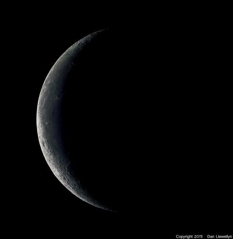 Image of the Moon at Lunar Phase Day 26.