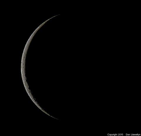 Image of the Moon at Lunar Phase Day 28.